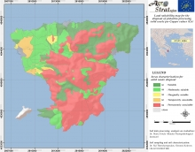 Dr. Maria Doula Land Suitability Map of Aegina island, Greece, for the distribution of solid pistachio waste as per soil available Copper content (LIFE-AgroStrat)