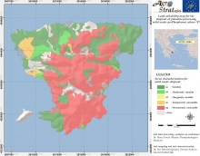 Dr. M.K.Doula.Land Suitability Map of Aegina island, Greece, for the distribution of solid pistachio waste as per soil available Phosphorus content (LIFE-AgroStrat)