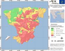 Δρ. Μ. Κ. Ντούλα.Χάρτης Καταλληλότητας Εδάφους για τη διασπορά υγρών αποβλήτων κελυφωτών φυστικιών ν. Αίγινας. (LIFE-AgroStrat)